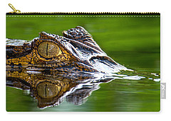 Spectacled Caiman Caiman Crocodilus Carry-all Pouch by Panoramic Images