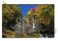 Spectacular Fall Color At Amicalola Falls Carry-all Pouch by Barbara Bowen