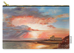 Carry-all Pouch featuring the painting Spectacular On Folkestone Harbour by Beatrice Cloake