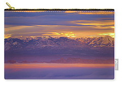 Spectacular Surnise Of The La Sal Mountains From Dead Horse Point State Park Carry-all Pouch