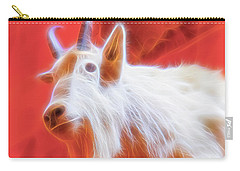 Carry-all Pouch featuring the digital art Spectral Mountain Goat by Ray Shiu