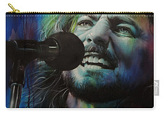 Eddie Vedder - ' Spectrum Of Vedder ' Carry-all Pouch by Christian Chapman Art