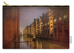 Speicherstadt Hamburg By Night  Carry-all Pouch