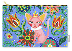 Sphynx Pattern Carry-all Pouch by Akiko Okabe