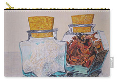 Carry-all Pouch featuring the painting Spice Jars by Hilda and Jose Garrancho