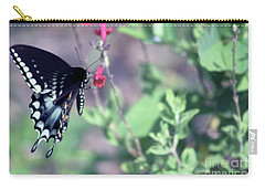 Spicebush Swallowtail Butterfly Carry-all Pouch by D Renee Wilson