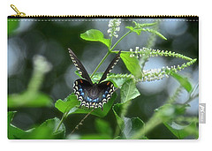 Spicebush Swallowtail On Sweet Almond Flower Carry-all Pouch