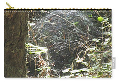 Carry-all Pouch featuring the photograph Spider Dome by Marie Neder