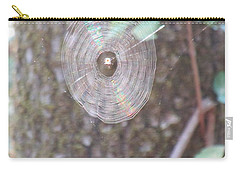 Carry-all Pouch featuring the photograph Spider In The Round by Marie Neder