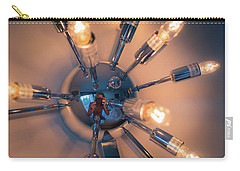 Carry-all Pouch featuring the photograph Spider Light Reflected Portrait by T Brian Jones