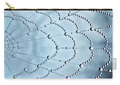 Spider Web Raindrops 2 Carry-all Pouch by Lorella Schoales