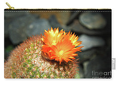 Spiky Little Cactus With Orange Flower Carry-all Pouch