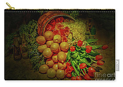 Spilled Barrel Bouquet Carry-all Pouch by Sandy Moulder