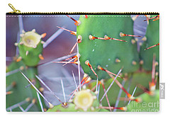 Spines Prickly Pear Cactus Carry-all Pouch by D Renee Wilson