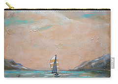Carry-all Pouch featuring the painting Spinnaker Downwind by Linda Olsen