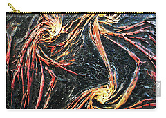 Carry-all Pouch featuring the mixed media Spinning by Angela Stout