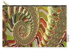Carry-all Pouch featuring the photograph Spiral Fractal by Bonnie Bruno