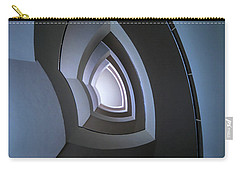 Spiral Modern Staircase In Blue Tones Carry-all Pouch by Jaroslaw Blaminsky