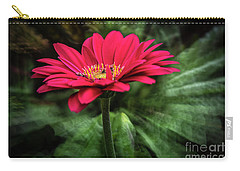 Spiral Pink Flower Focus Carry-all Pouch