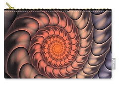 Carry-all Pouch featuring the digital art Spiral Shell by Anastasiya Malakhova