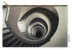 Spiral Staircase In Beige Tones Carry-all Pouch by Jaroslaw Blaminsky