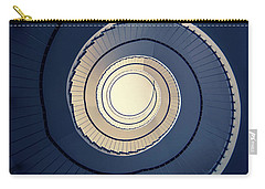 Spiral Staircase In Blue And Cream Tones Carry-all Pouch by Jaroslaw Blaminsky