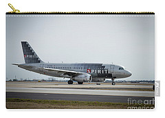 Carry-all Pouch featuring the photograph Spirit Airlines A319 Airbus N523nk Airplane Art by Reid Callaway