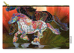 Spirit Horse II Leopard Gypsy Vanner Carry-all Pouch