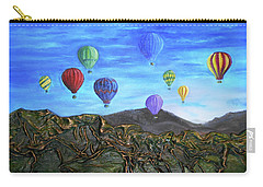 Carry-all Pouch featuring the mixed media Spirit Of Boise by Angela Stout