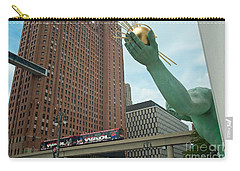 Spirit Of Detroit And People Mover Carry-all Pouch