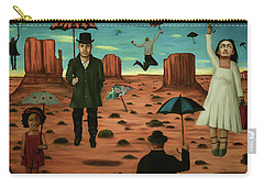 Spirits Of The Flying Umbrellas 3  Carry-all Pouch by Leah Saulnier The Painting Maniac