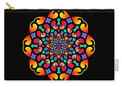 Spirograph Swirls Mandala Carry-all Pouch