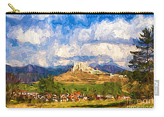 Castle Above The Village Carry-all Pouch