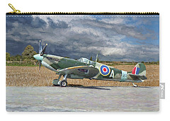 Spitfire Under Storm Clouds Carry-all Pouch