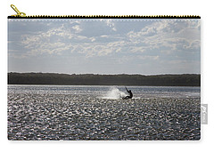 Carry-all Pouch featuring the photograph Splash At Lake Wollumboola by Miroslava Jurcik