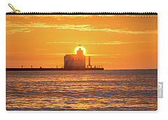 Carry-all Pouch featuring the photograph Splash Of Light by Bill Pevlor