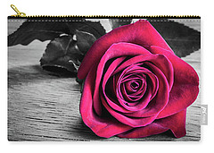 Splash Of Red Rose Carry-all Pouch