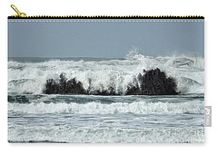 Carry-all Pouch featuring the photograph Splash by Peggy Hughes