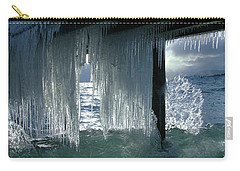 Splash...storm Sunset Carry-all Pouch by Sean Sarsfield