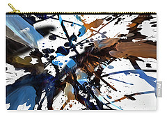 Carry-all Pouch featuring the digital art Splatter Gig by Margie Chapman