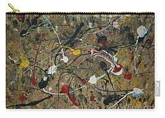 Carry-all Pouch featuring the painting Splattered by Jacqueline Athmann