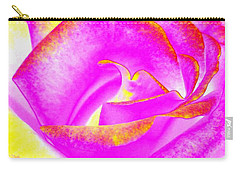 Carry-all Pouch featuring the mixed media Splendid Rose Abstract by Will Borden