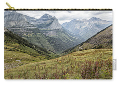 Carry-all Pouch featuring the photograph Splendor From Highline Trail - Glacier by Belinda Greb