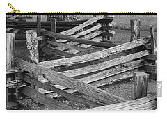 Carry-all Pouch featuring the photograph Split Rail Fence by Eric Liller