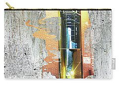 Carry-all Pouch featuring the mixed media Split by Tony Rubino