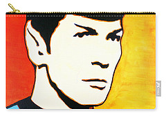Spock Vulcan Star Trek Pop Art Carry-all Pouch by Bob Baker