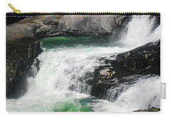 Spokane Water Fall Carry-all Pouch by Anthony Jones