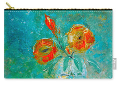 Palette Knife Floral Carry-all Pouch by Lisa Kaiser
