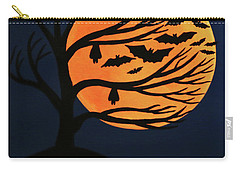Spooky Bat Tree Carry-all Pouch