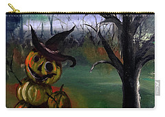 Spooky Pumpkin Tree By Lisa Kaiser Carry-all Pouch